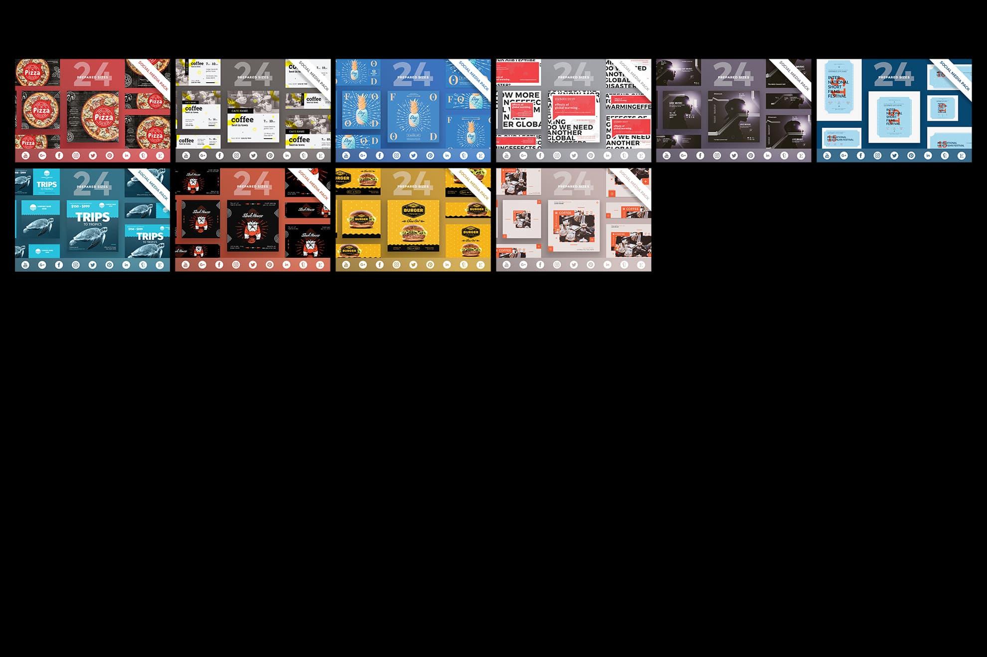 Social Media Cover & Post Design Templates Bundle SALE example image 10
