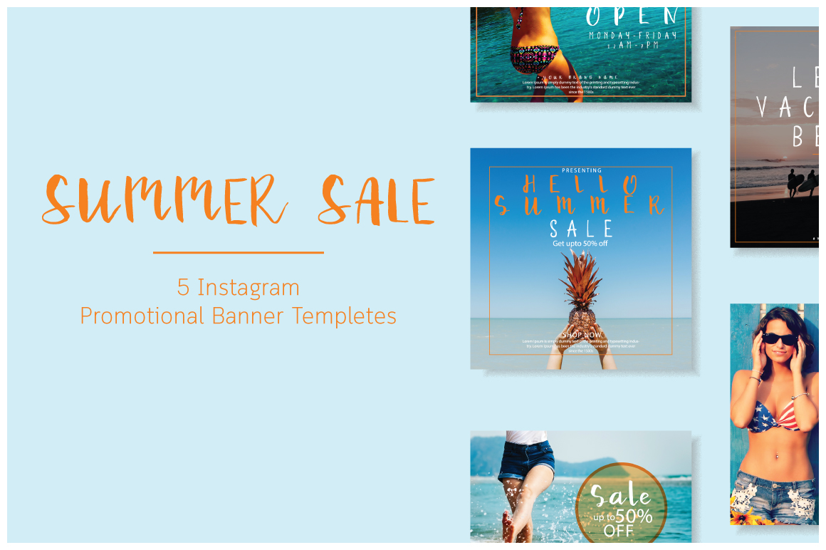 Summer sale | Mini social Pack example image 1