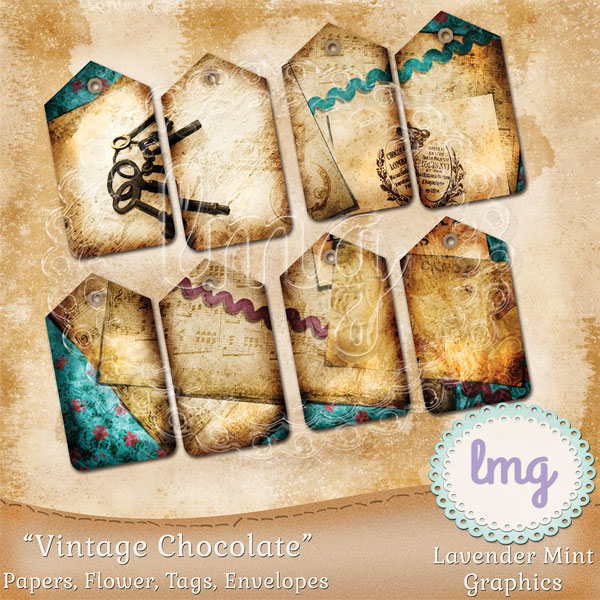 Vintage Chocolate Junk Journal Kit example image 4