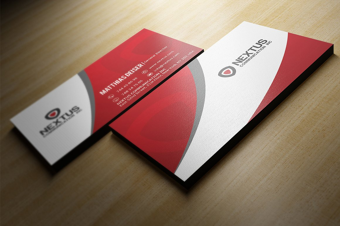 red business card example image 1