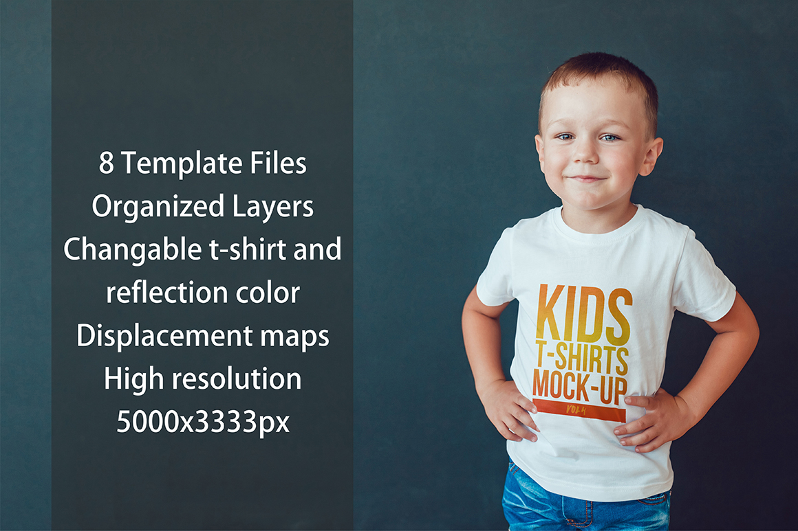 Kids T-Shirt Mock-Up Vol. 4 example image 4