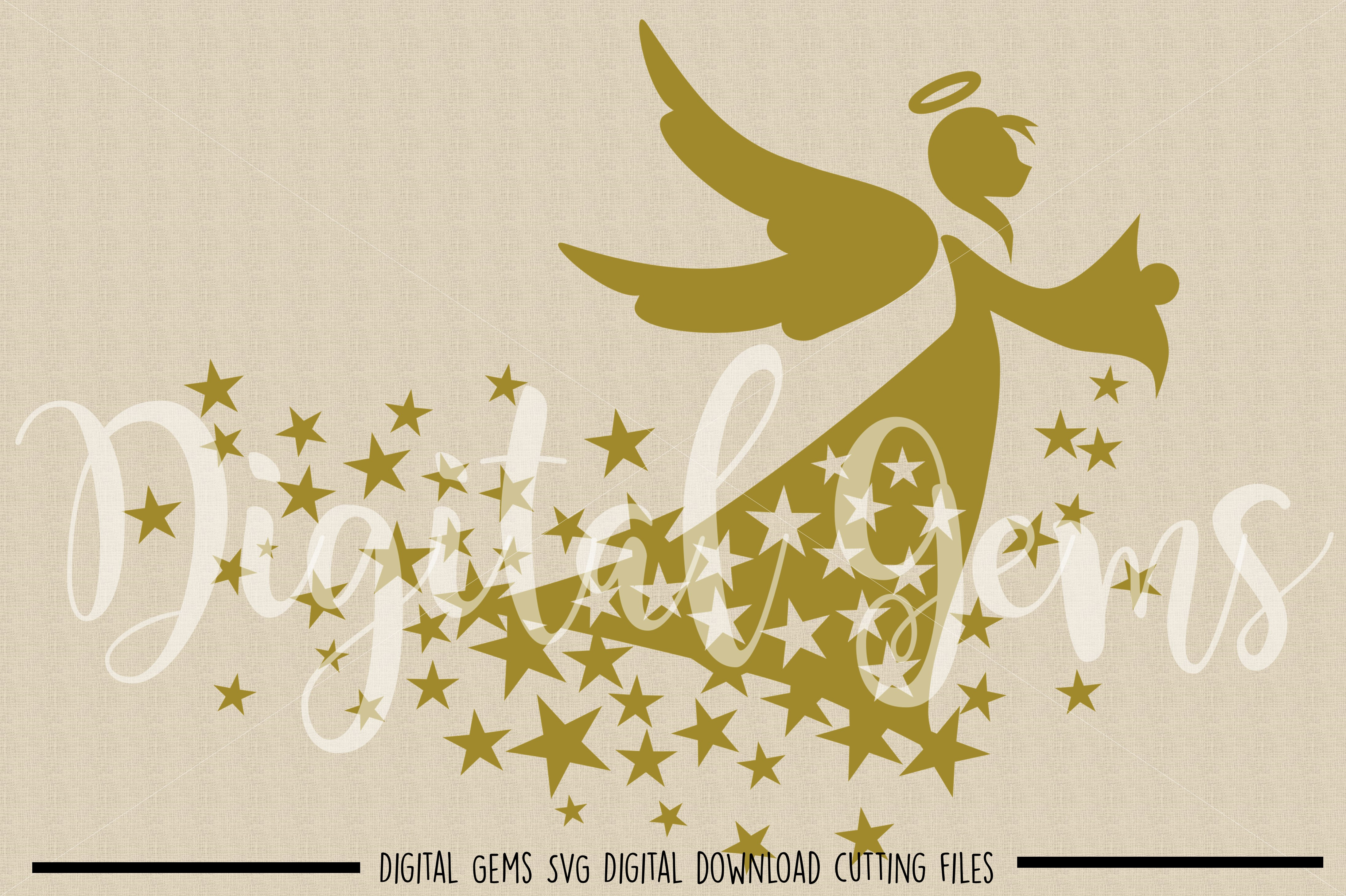 Angel SVG / PNG / EPS / DXF files example image 2