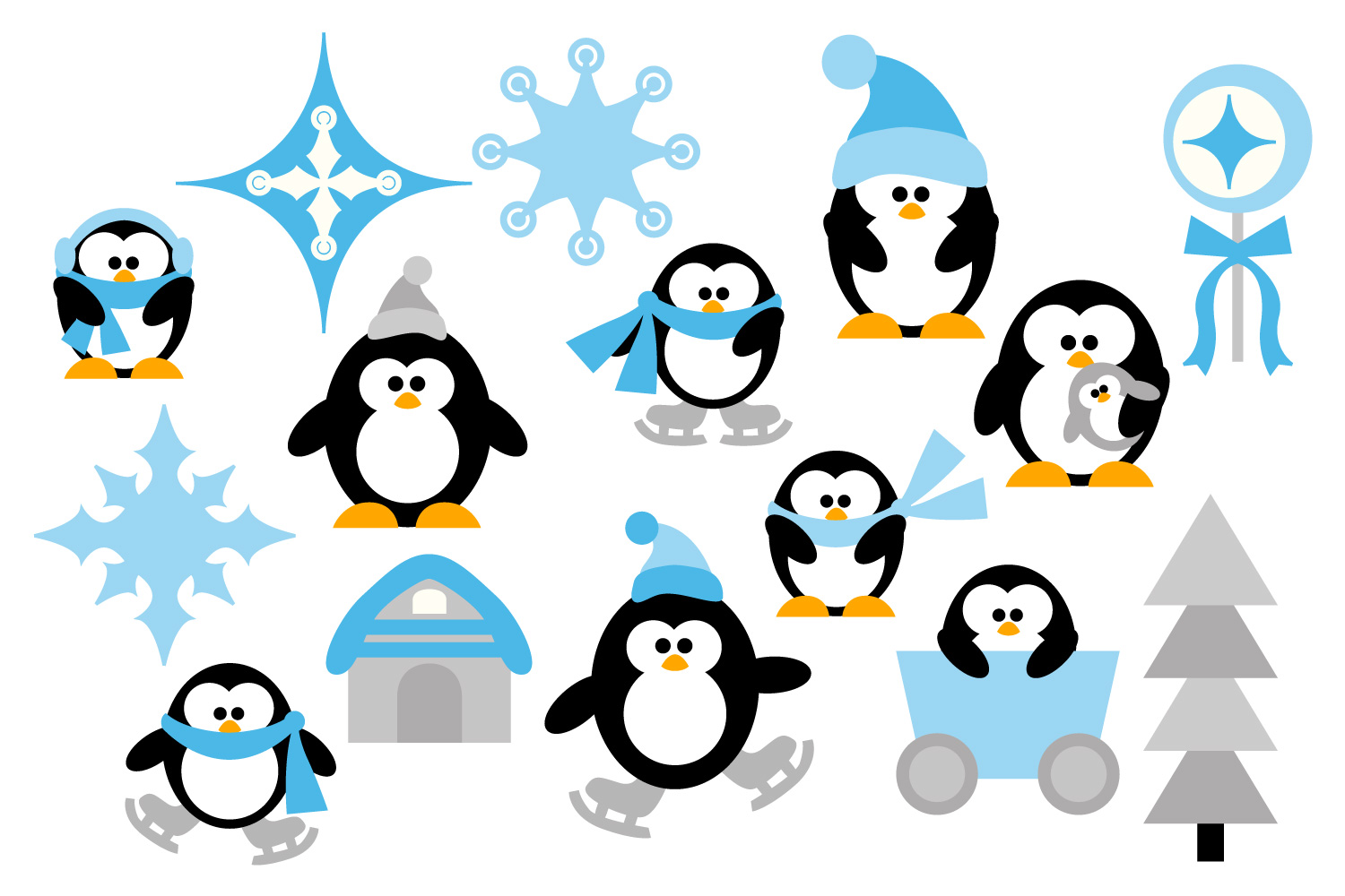 penguins clipart winter wonderland gra design bundles rh designbundles net christmas winter wonderland clipart winter wonderland clip art borders