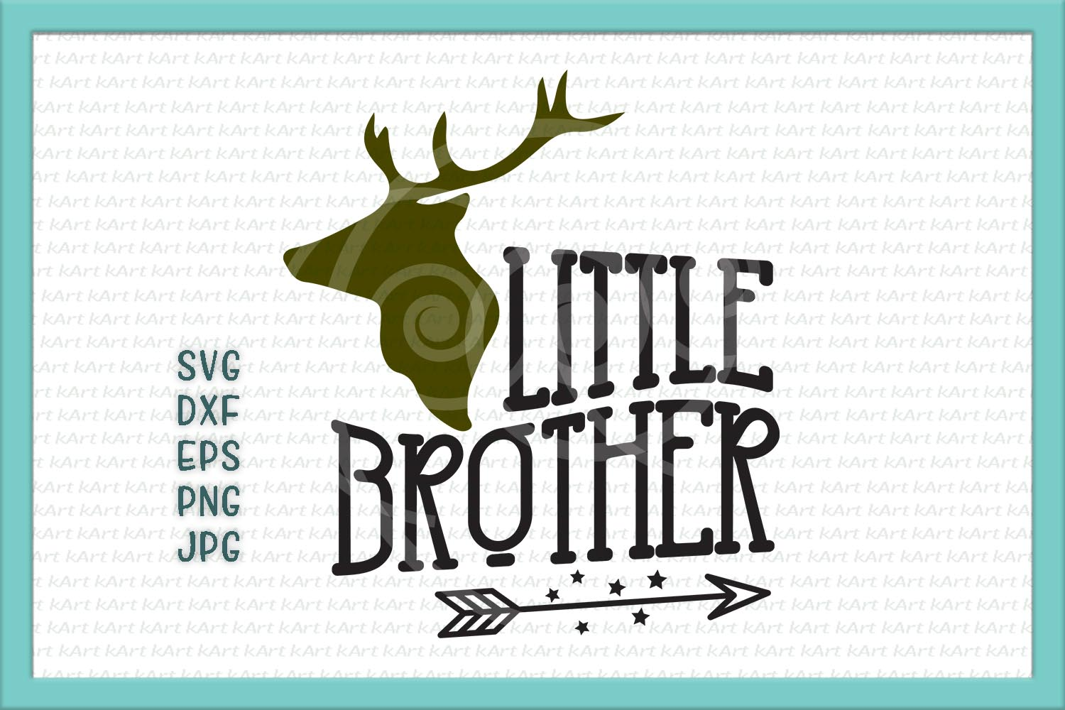 little brother svg, little brother antlers svg, arrow svg, big brother little brother svg, DXF PNG, jpeg, cricut little brother, printable example image 2