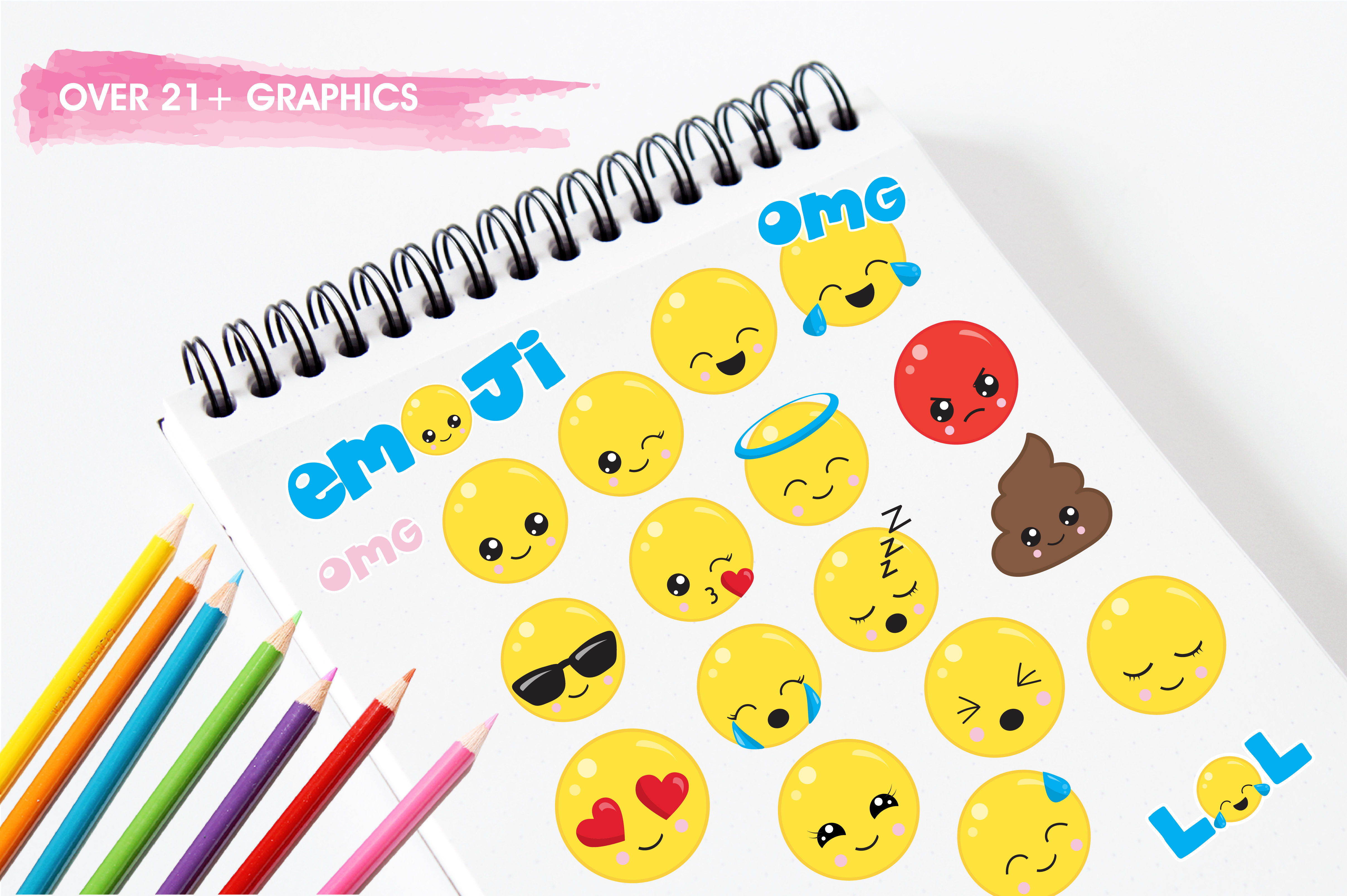 Cute emoji graphics and illustrations example image 3