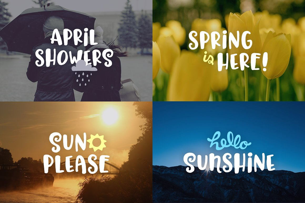 Hello Spring Font example image 5