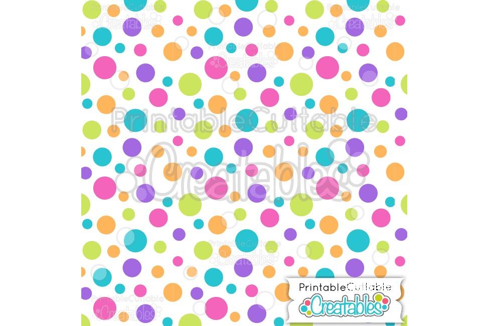 Tossed Birthday Dots Digital Paper & Seamless Pattern