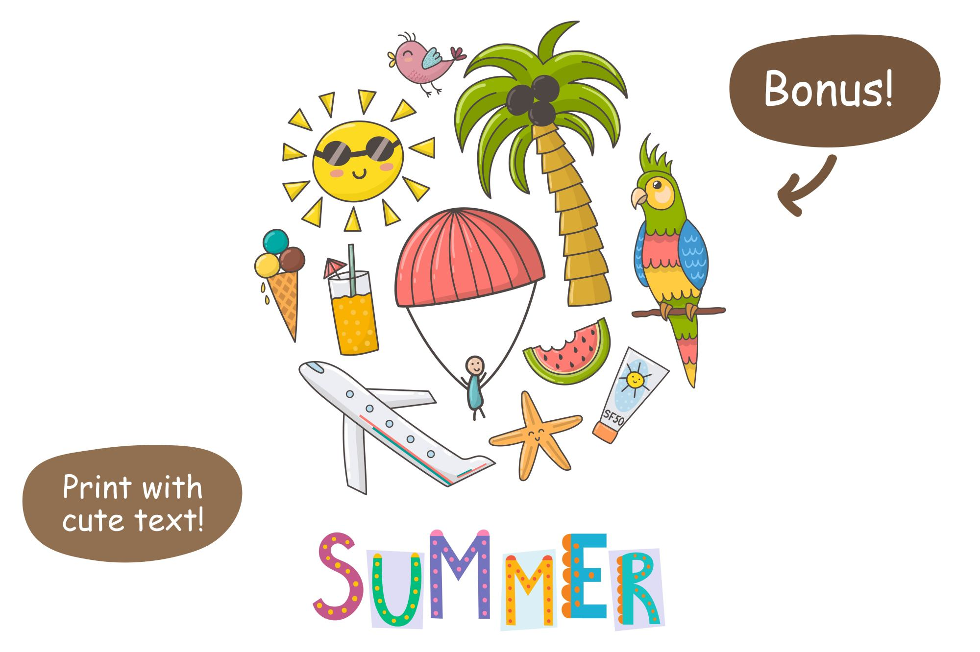 Summer Time: pattern & clipart example image 7