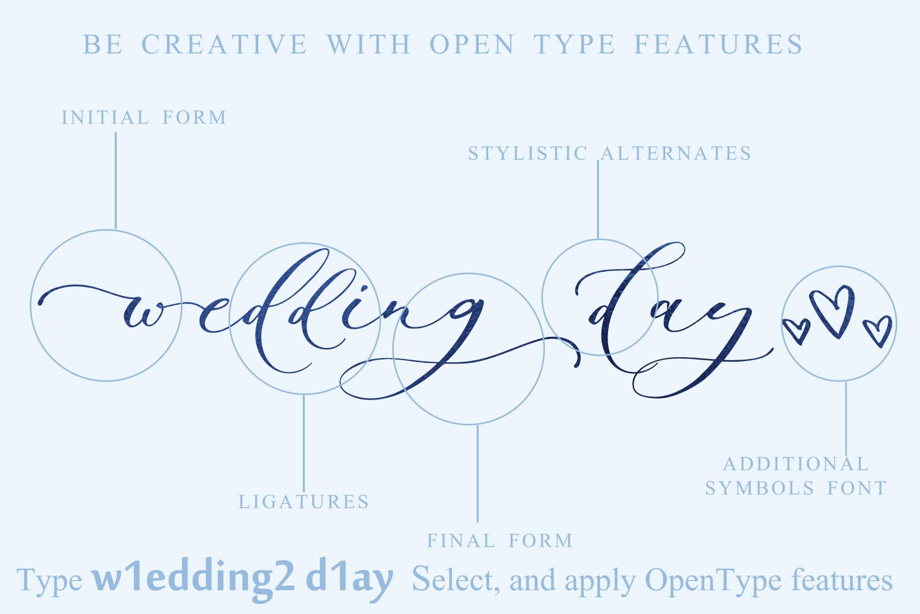 Sadlyne calligraphic font & extras example image 19