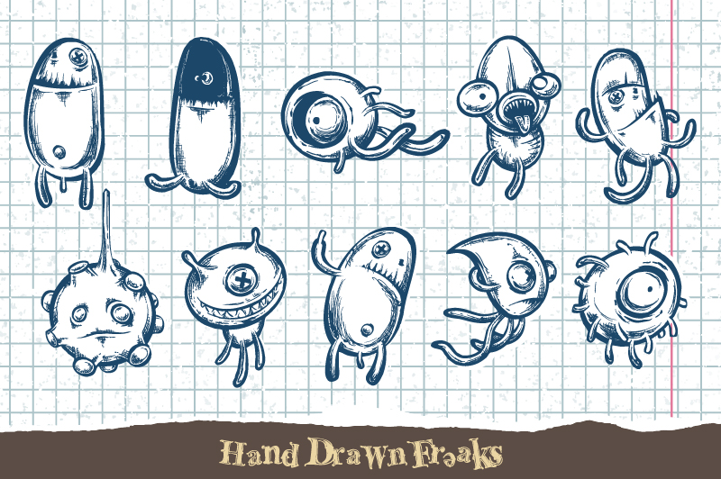 Sketchy Doodle Monsters example image 1