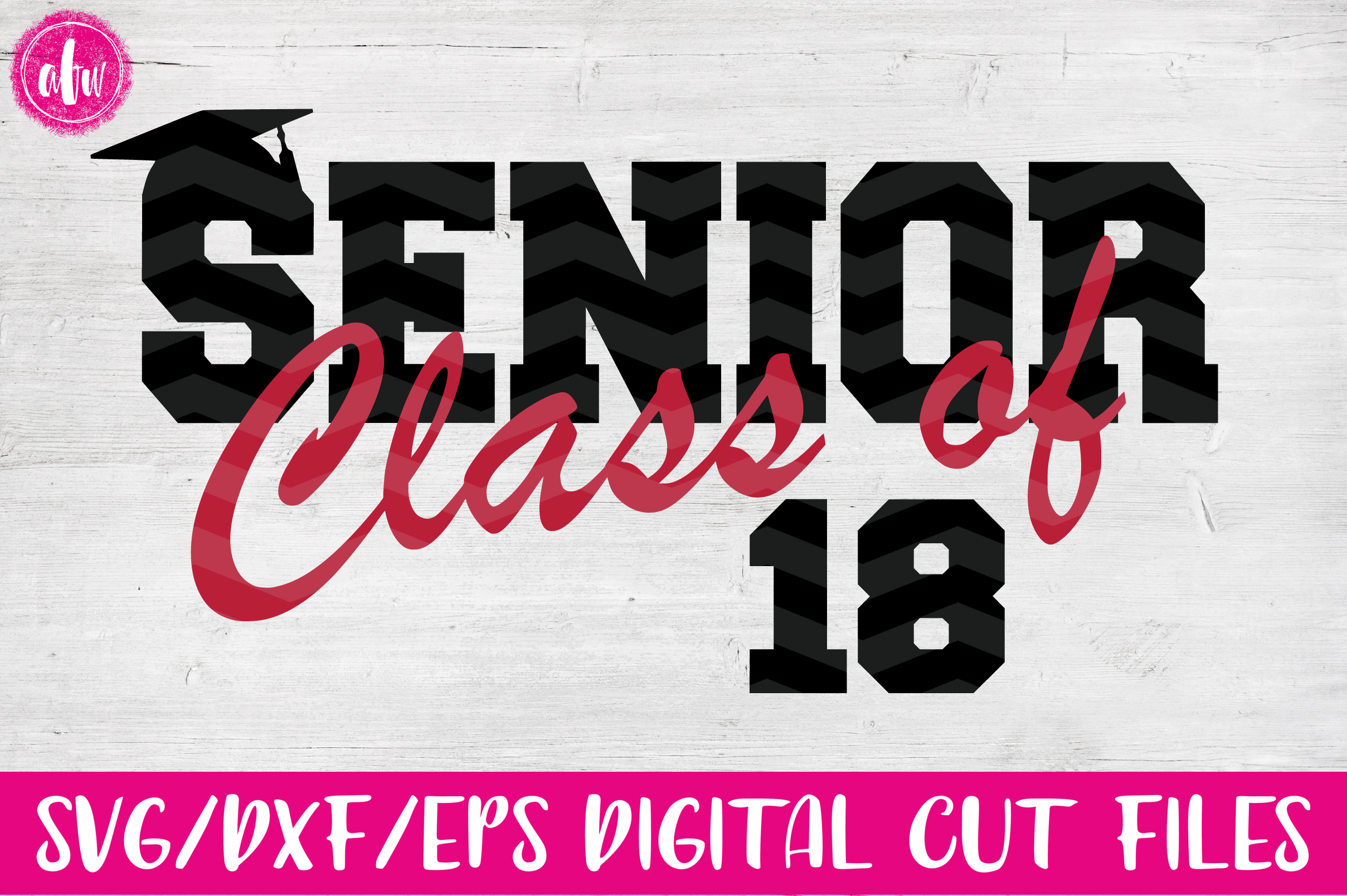 Graduation 2018 Bundle - SVG, DXF, EPS Cut Files example image 7