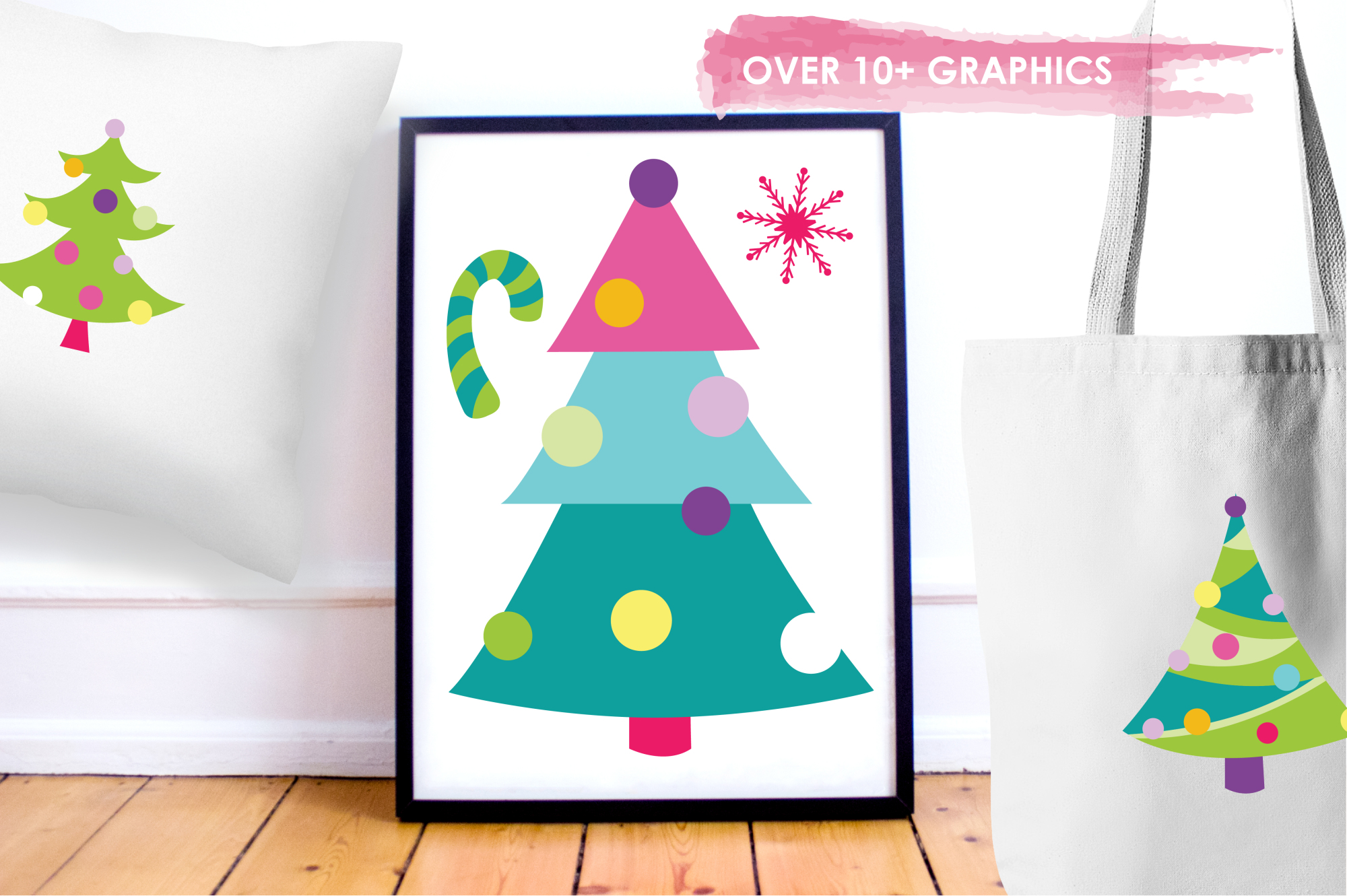 Christmas Trees graphics and illustrations example image 5