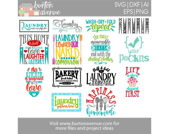 Burton Avenue Mega SVG Bundle for Cricut, Silhouette example image 7