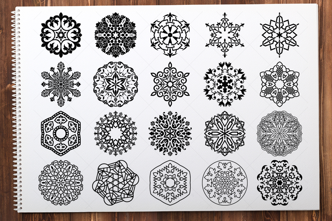 500 Vector Mandala Ornaments example image 14