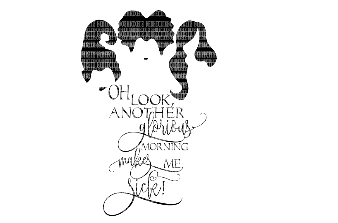 Hocus Pocus SVG Files The Sanderson Sisters Scrapbooking Cricut Design Space Silhouette Studio SVG for Cricut Scrapbooking Printable Clipart example image 1