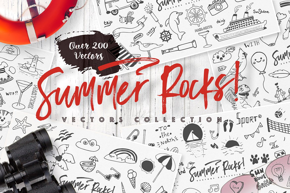 Summer Rocks! Vectors Collection example image 1