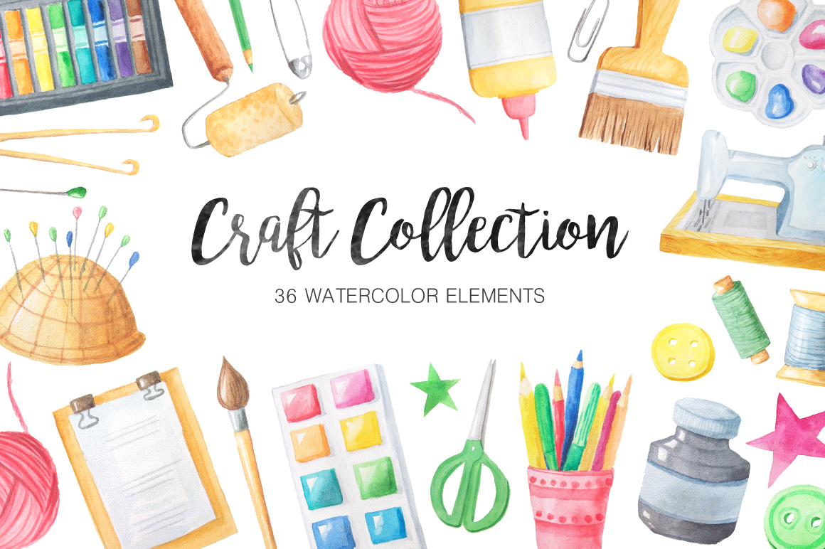 Watercolor Craft Collection  example image 1