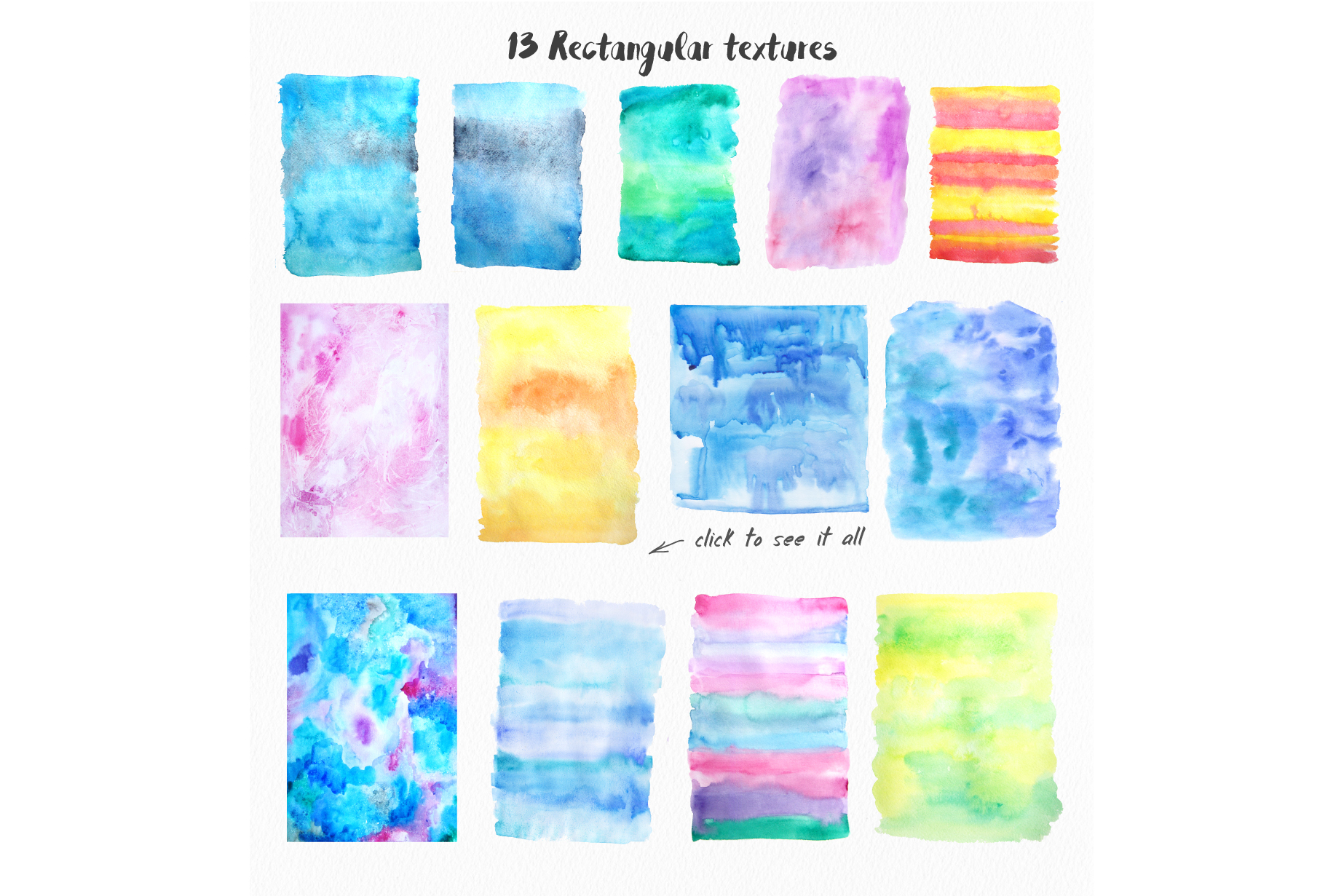 Big Watercolor Textures Pack example image 3