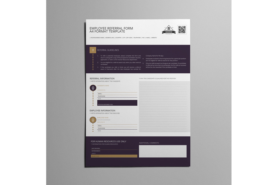 Employee Referral Form A Format By Keb  Design Bundles