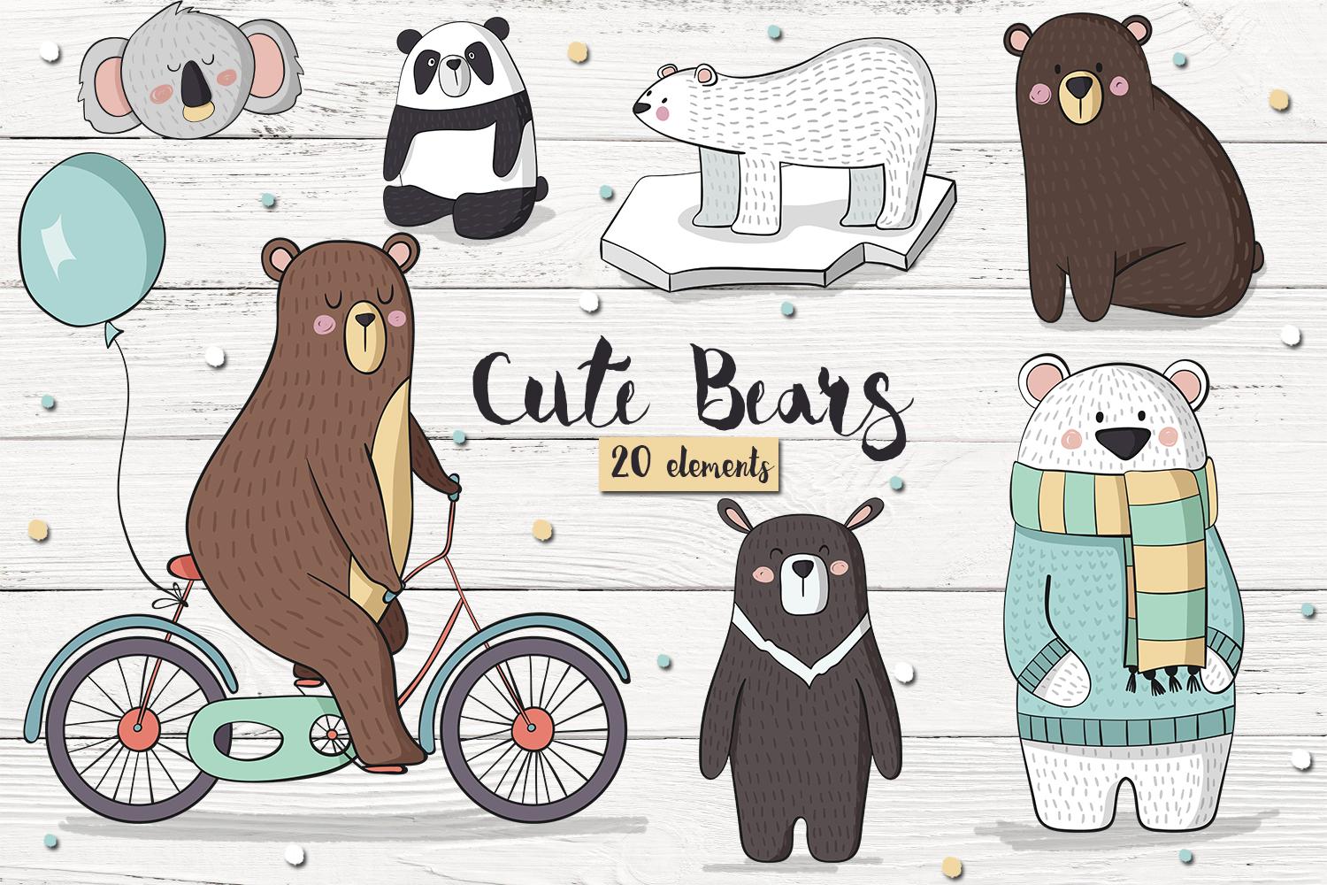 Cute Bears example image 1