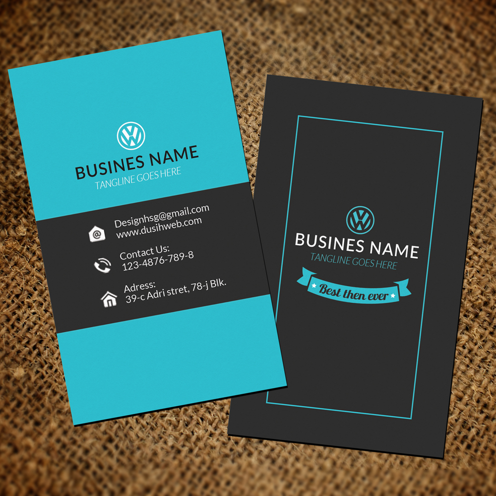 Vertical Business Cards By Designhub Design Bundles - Business card vertical template