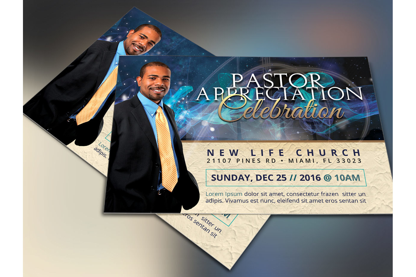 Starlight Pastor Anniversary Flyer Temp | Design Bundles