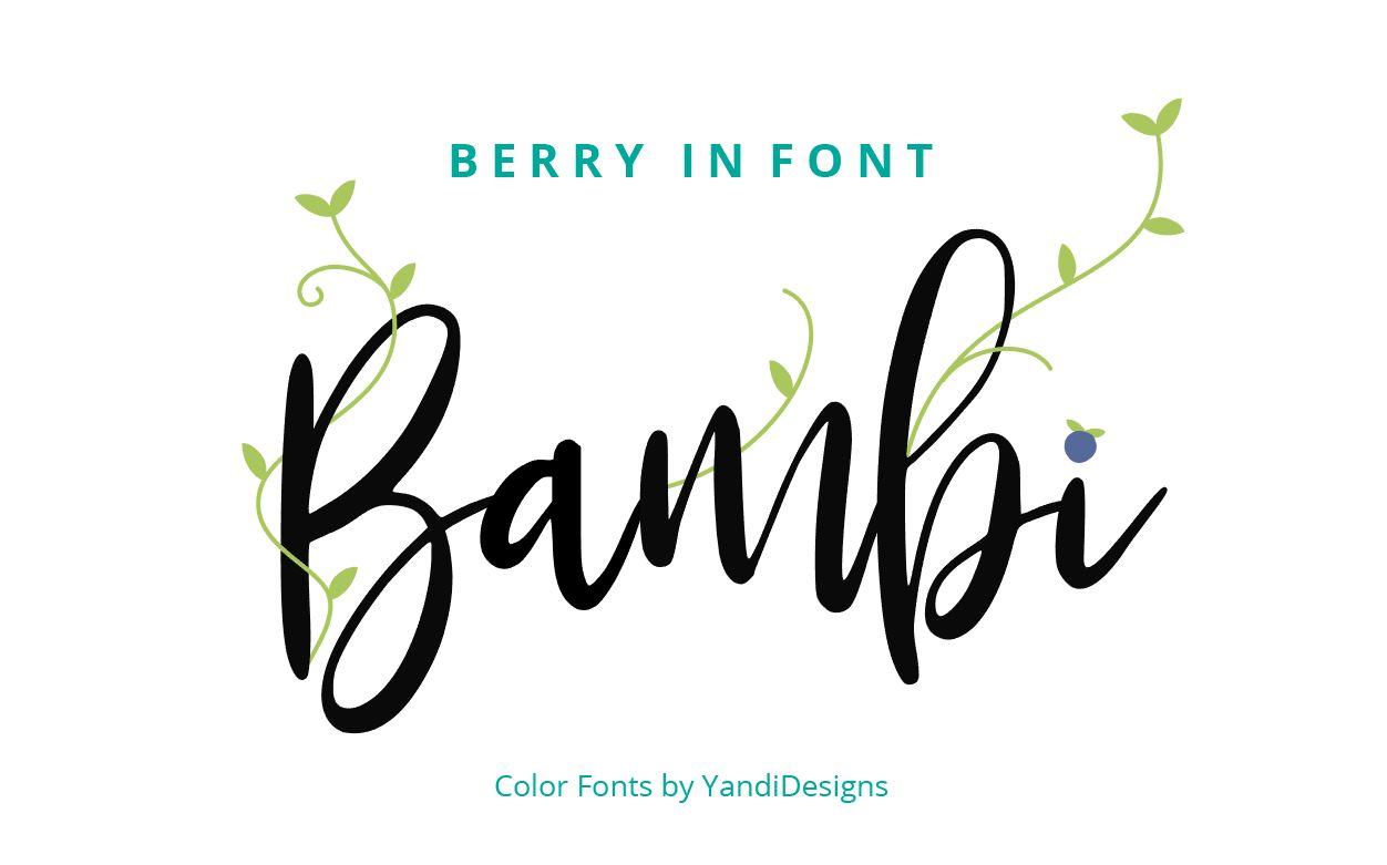 Bambi Font + New Extras ! example image 3