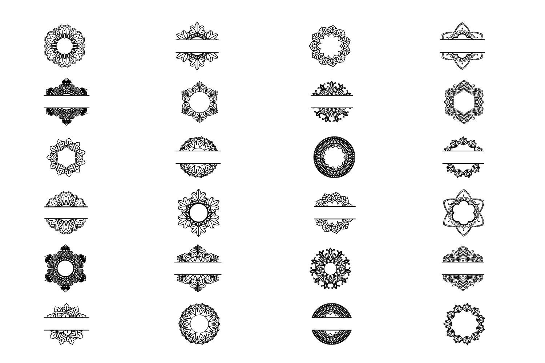 Mandala Monogram Logo Bundle example image 3