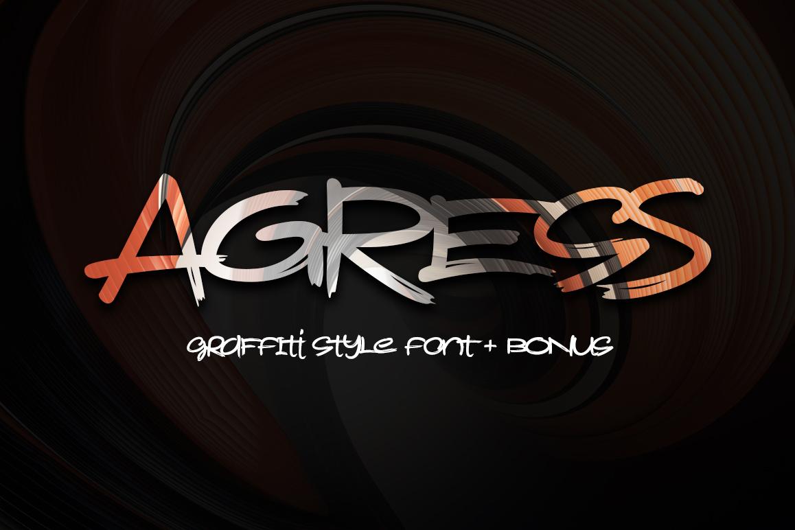 Agress Font + Bonus example image 1
