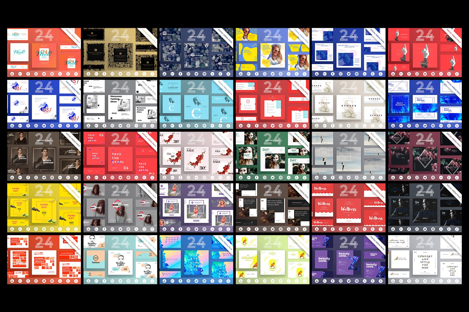 Social Media Cover & Post Design Templates Bundle SALE example image 6