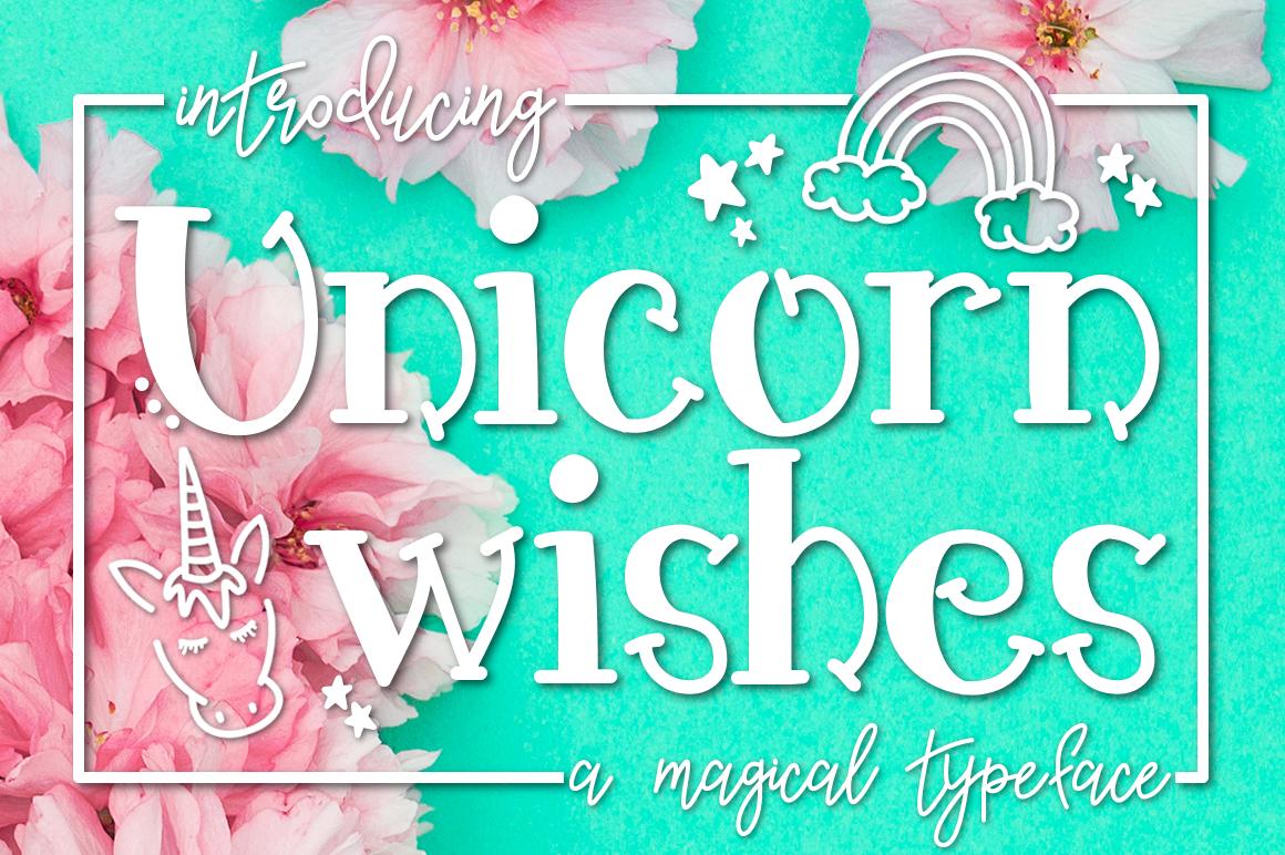 Unicorn Wishes a Handwritten Typeface example image 1