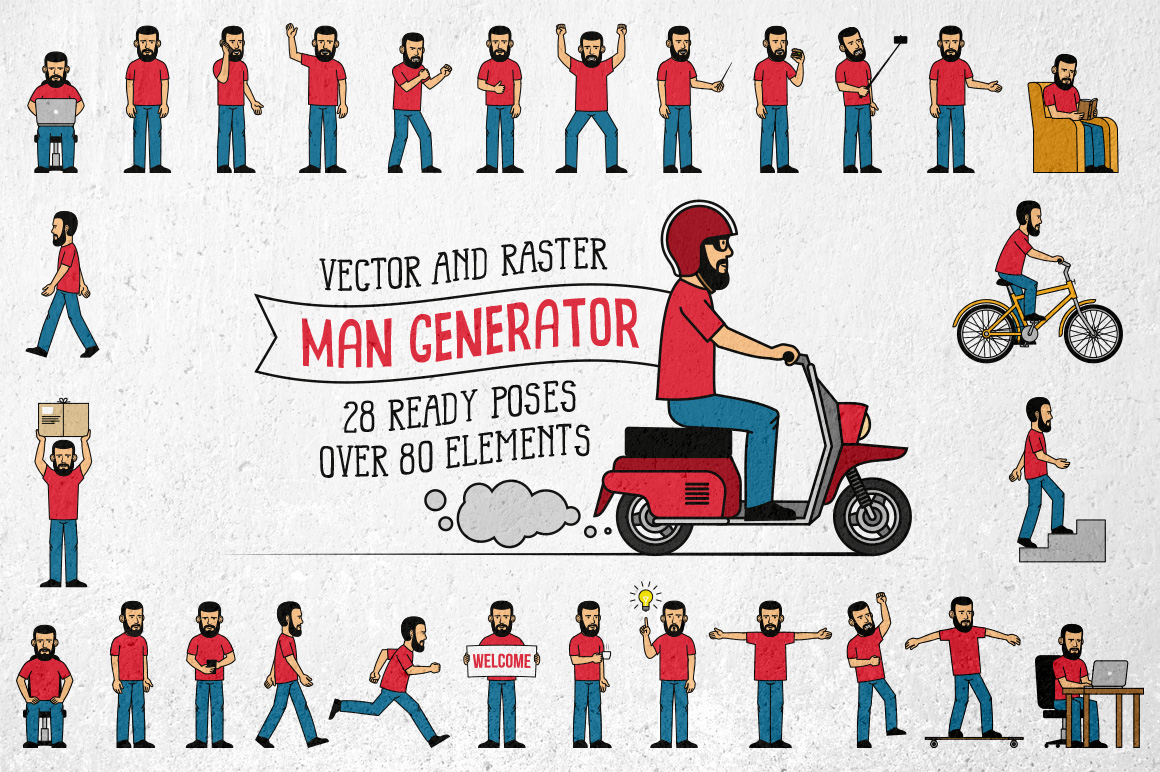 Bearded Man Generator example image 1