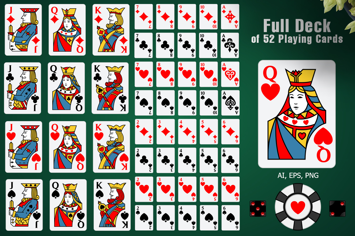 Full Deck of 52 Playing Cards example image 1