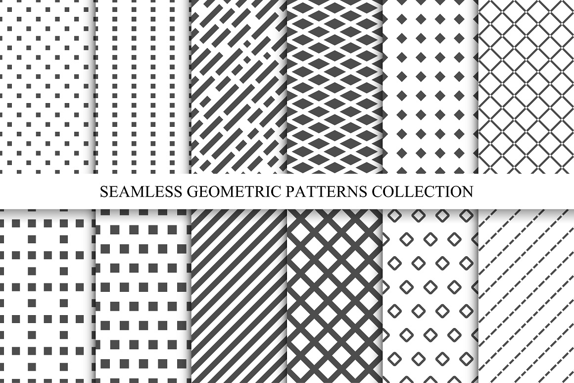 Seamless geometric patterns set by exp design bundles for Object pool design pattern