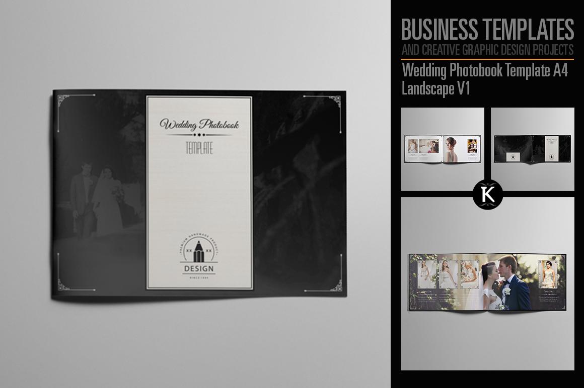 Wedding Photobook Template A4 Landscape V1 example image 1