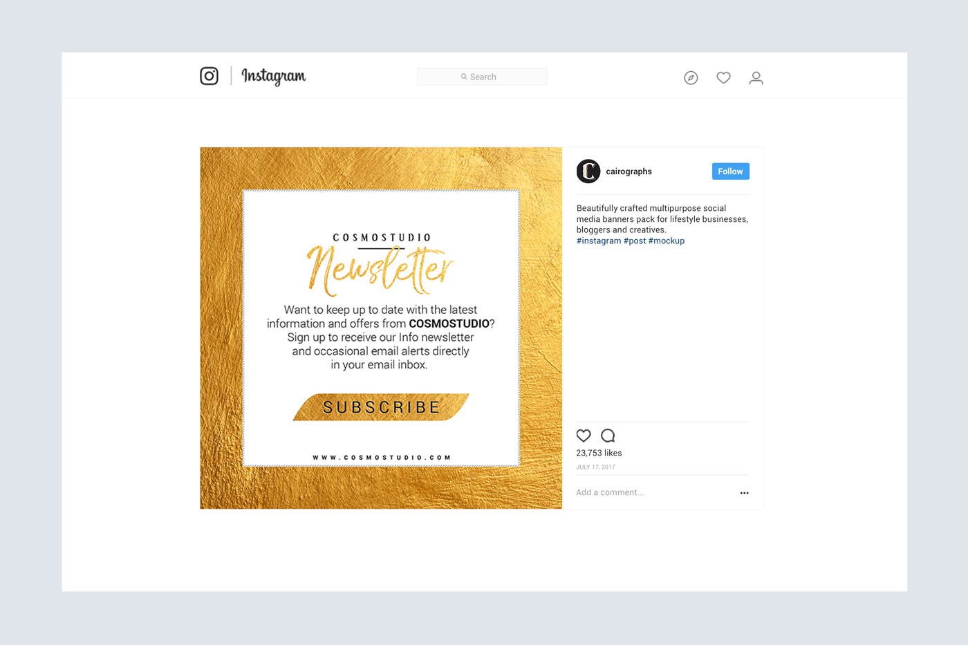 GOLD Social Media Pack example image 2