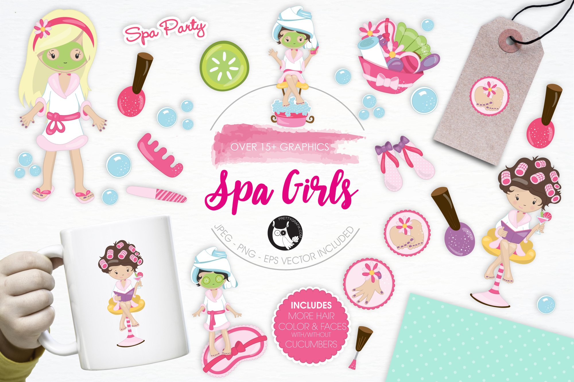Spa Girls graphics and illustrations example image 1