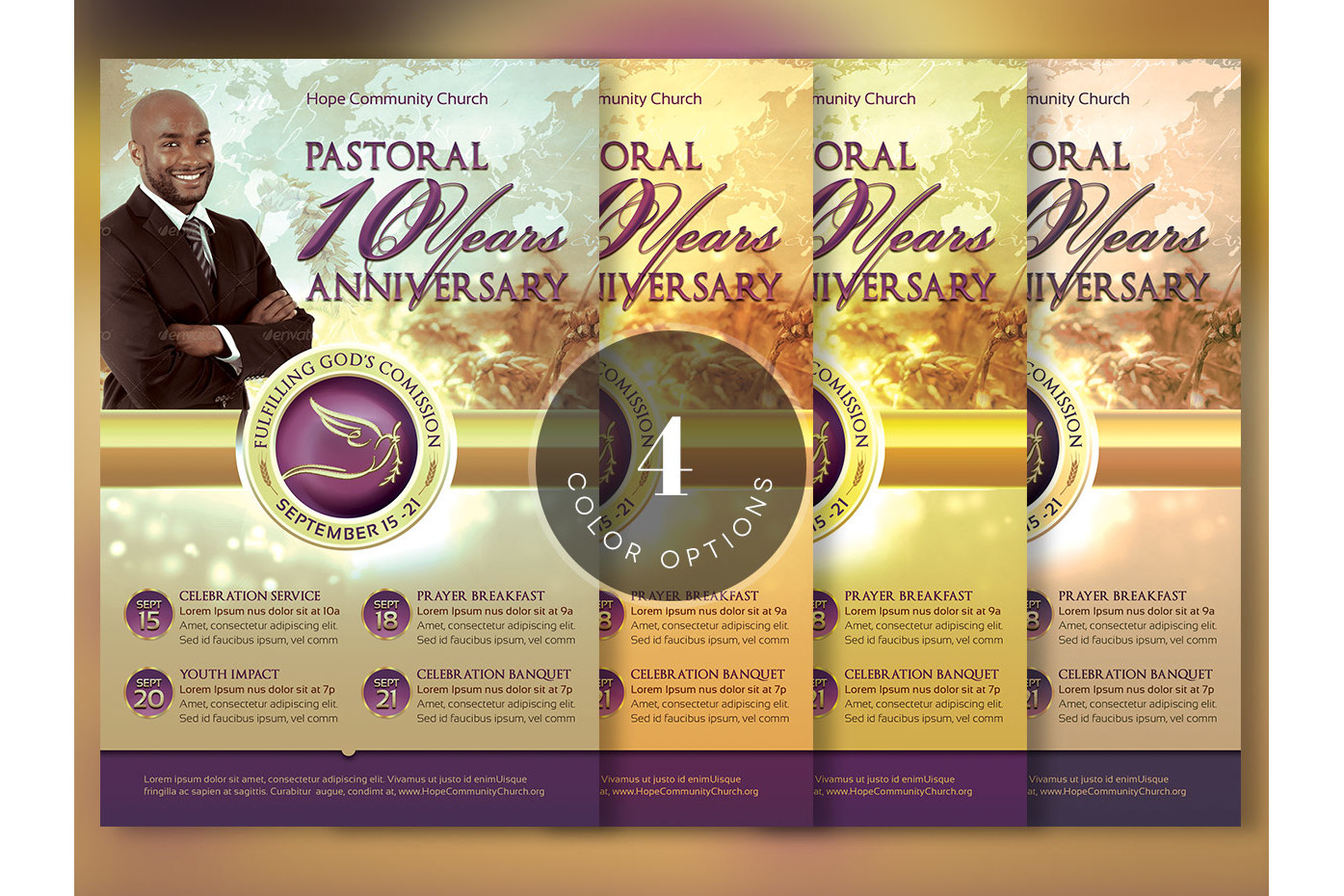 Clergy Anniversary Flyer Template by Go | Design Bundles