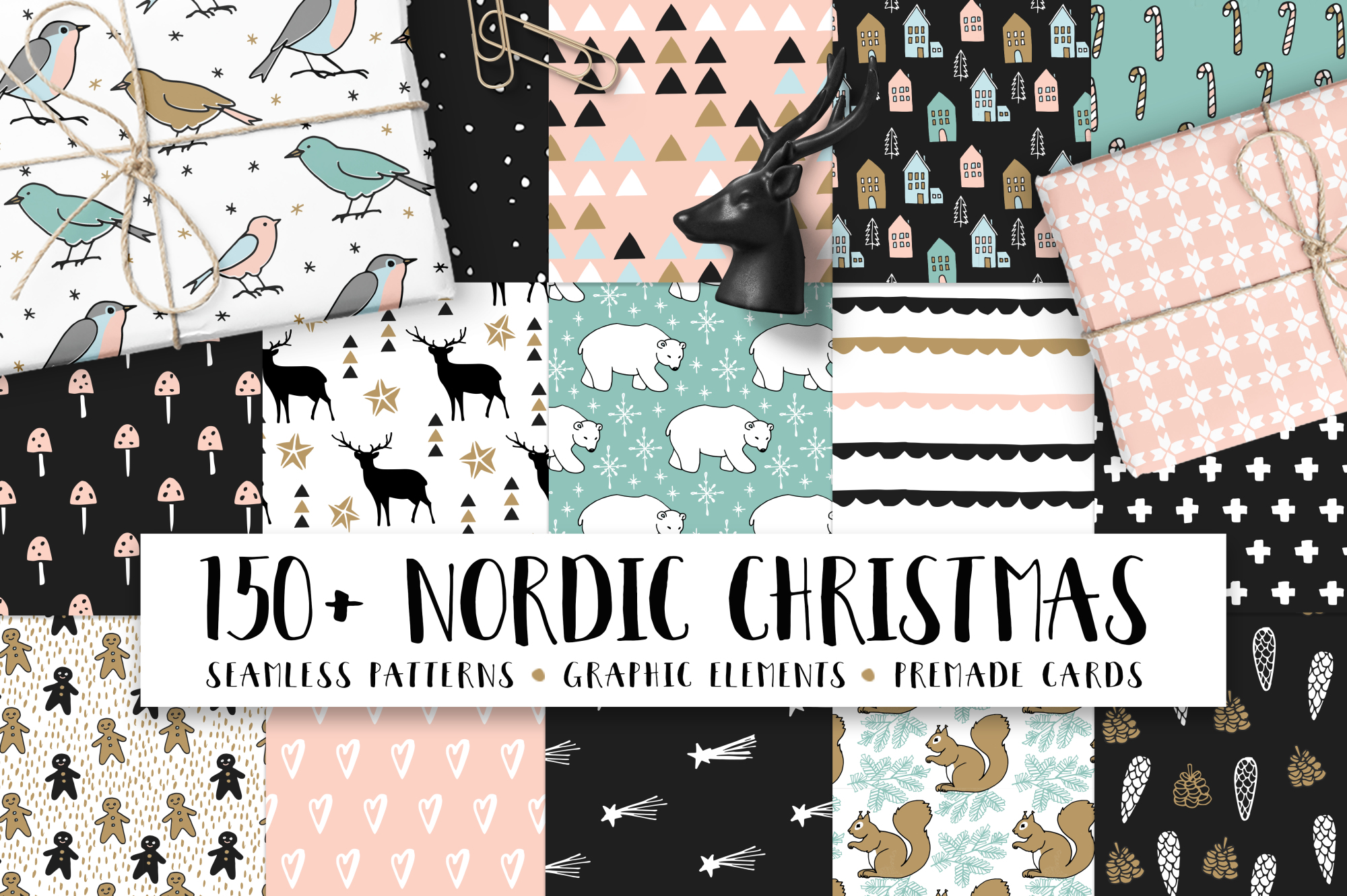 150+ Nordic Christmas set example image 1