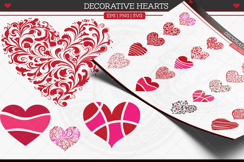 Decorative Hearts example image 1