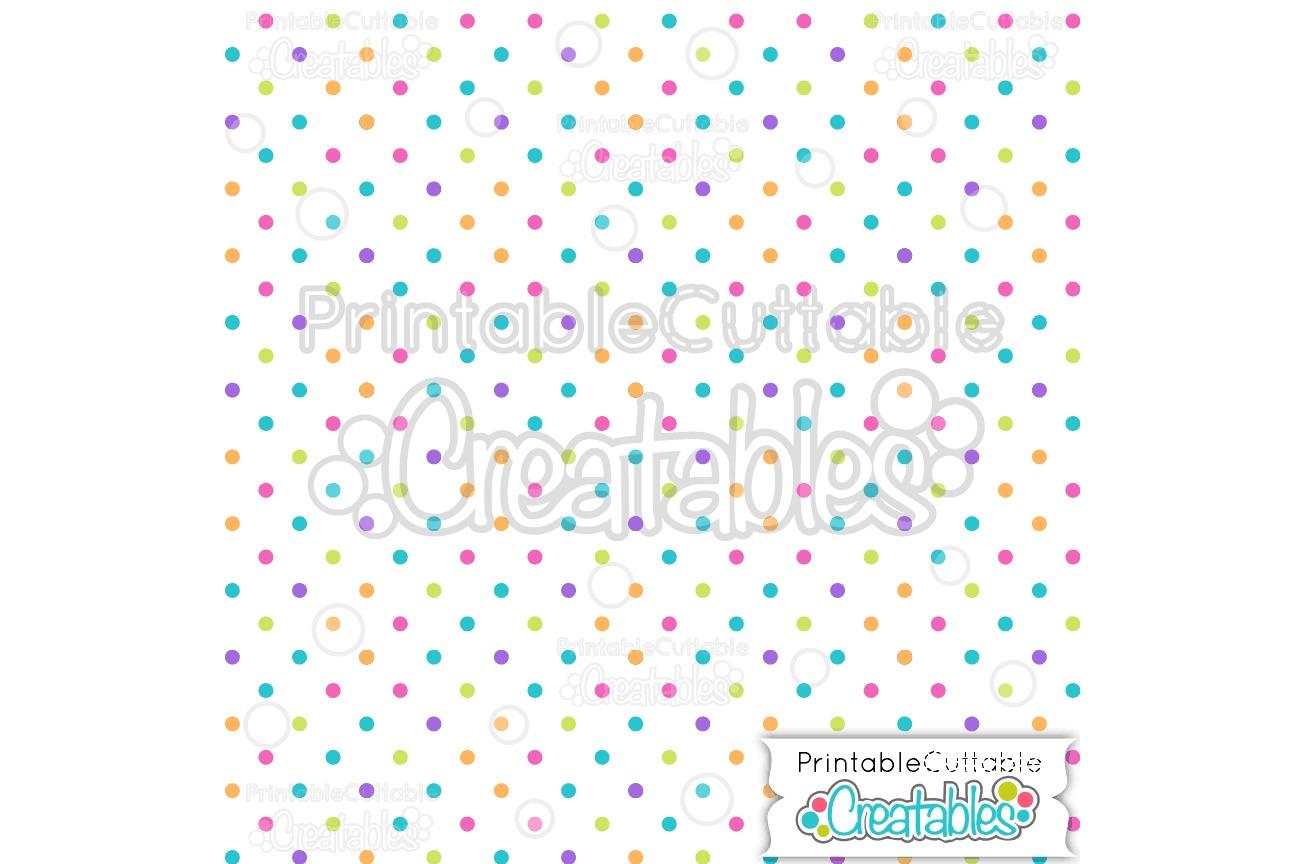 Multi Polka-dots Digital Paper & Seamless Pattern