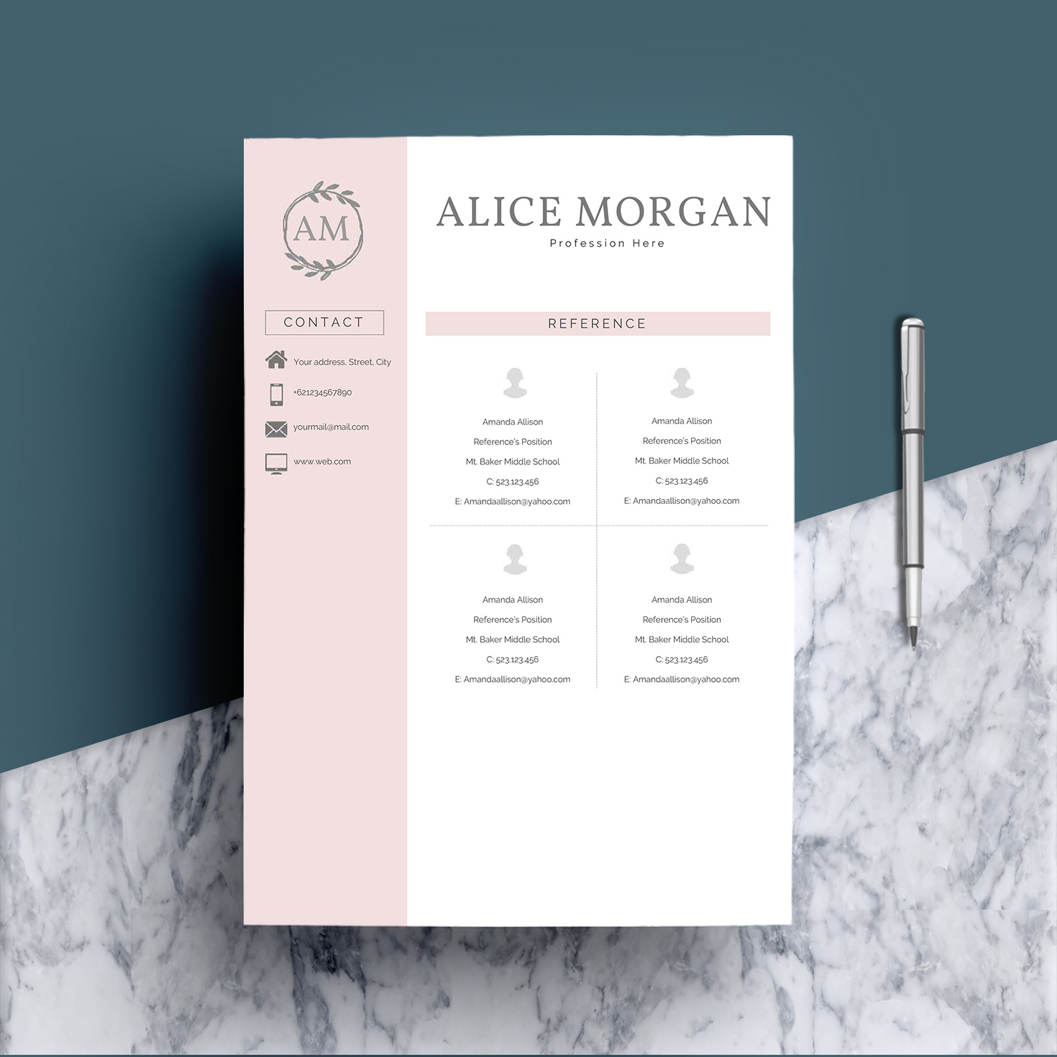 Professional Creative Resume Template - Alice Morgan example image 6