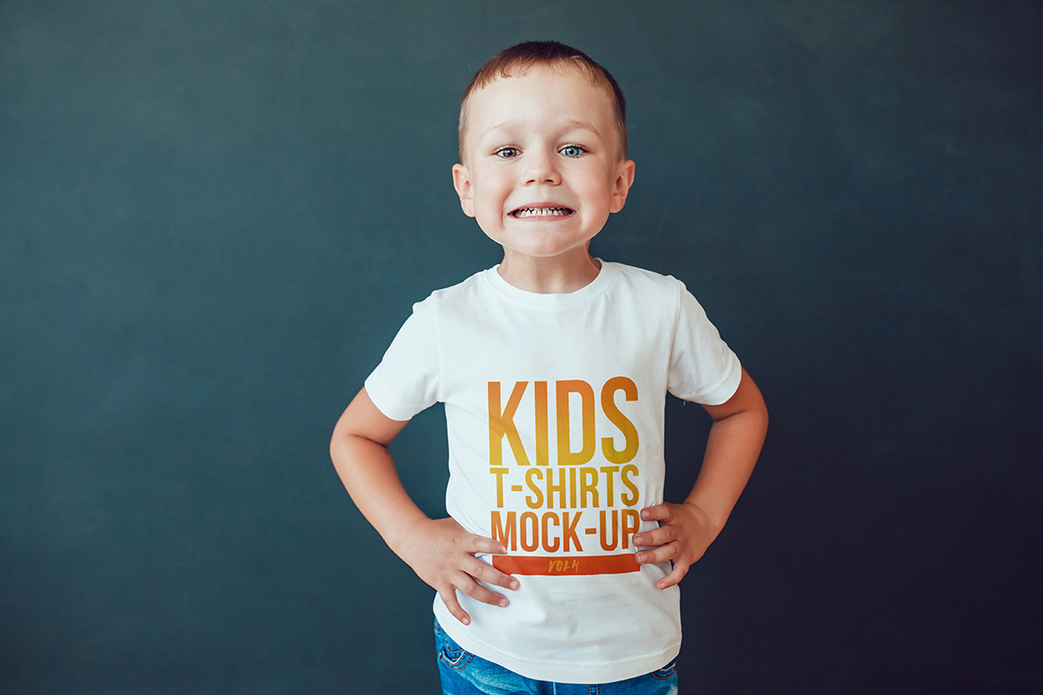 Kids T-Shirt Mock-Up Vol. 4 example image 2