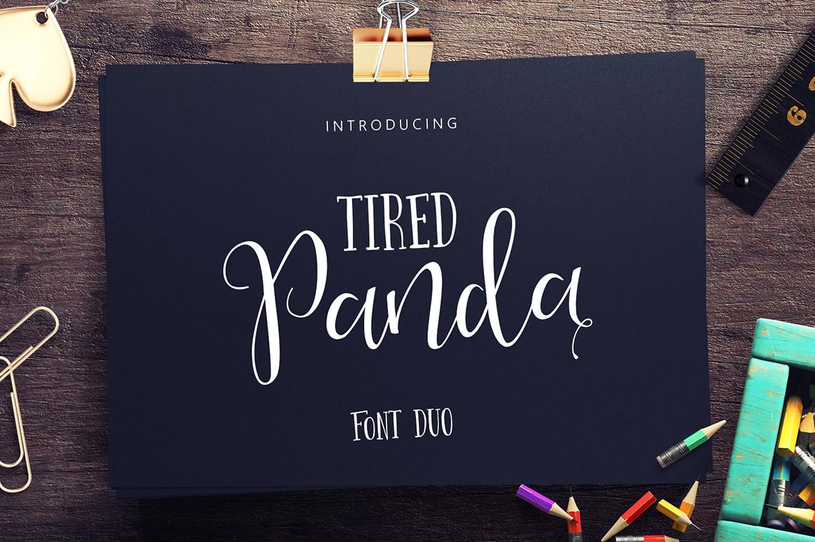 Tired Panda Script  example image 1