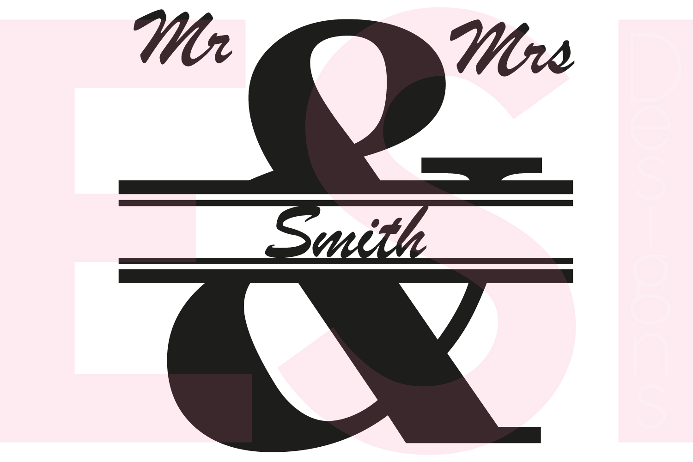 Mr & Mrs Split Ampersand Monogram Design example image 1