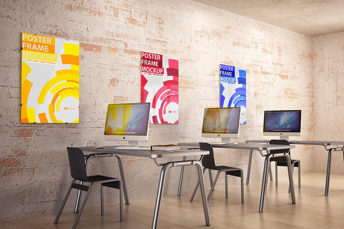 Interior poster frame mock-up by Giorda | Design Bundles
