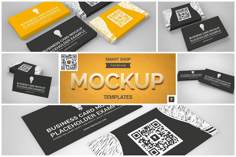 Business Card Mockup Set by SHOCKY DESI | Design Bundles
