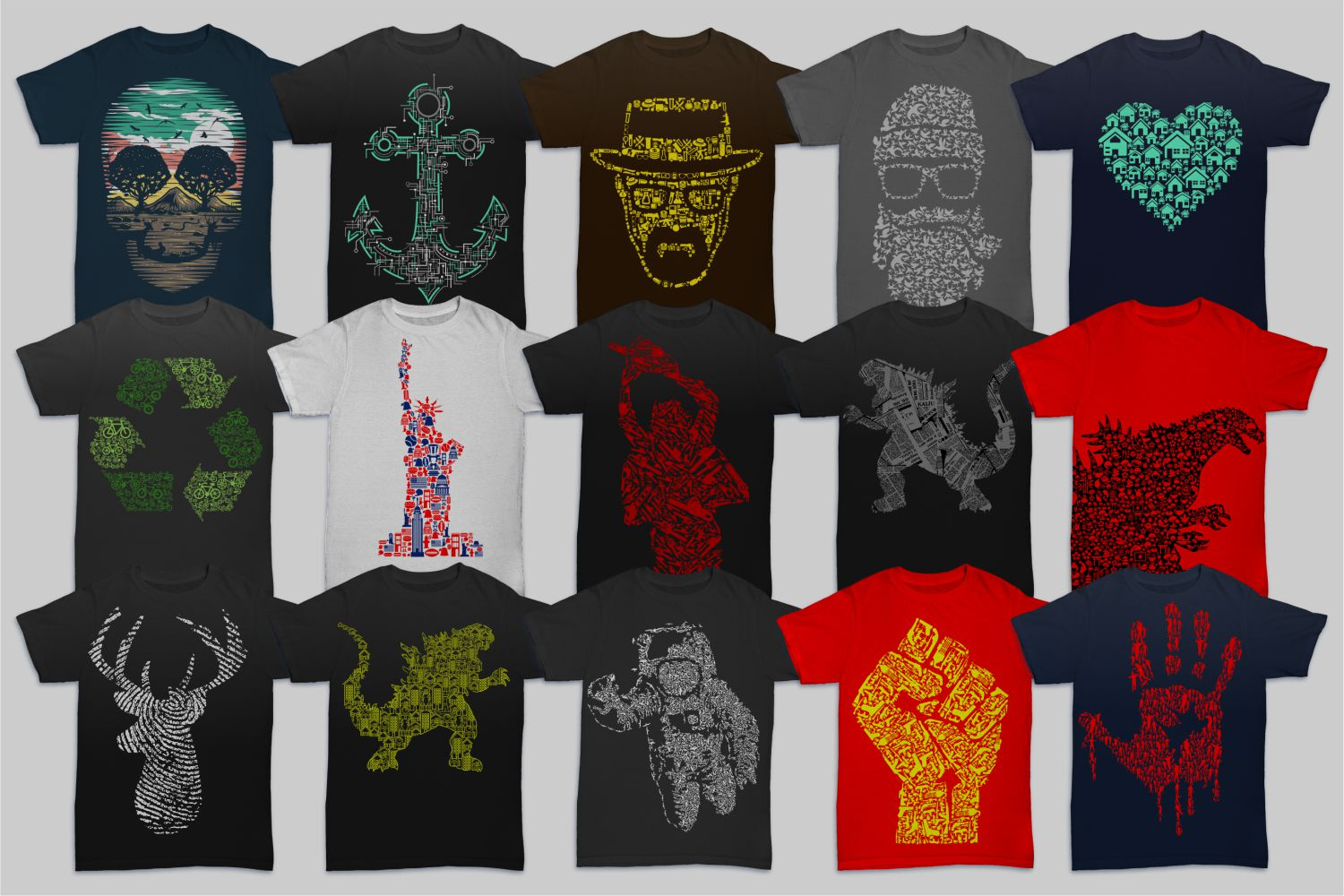 Tshirt Designs Mega Bundle Pack 1 + Pack 2 example image 2