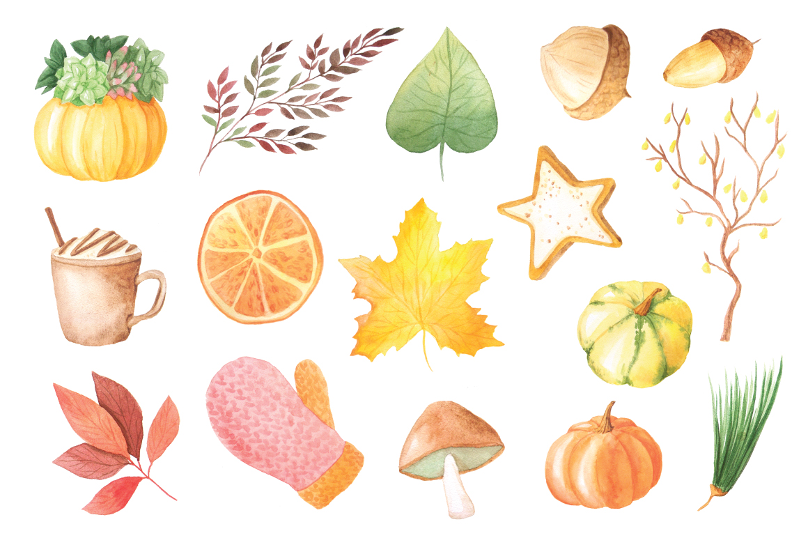 The Watercolor Autumn Collection  example image 2