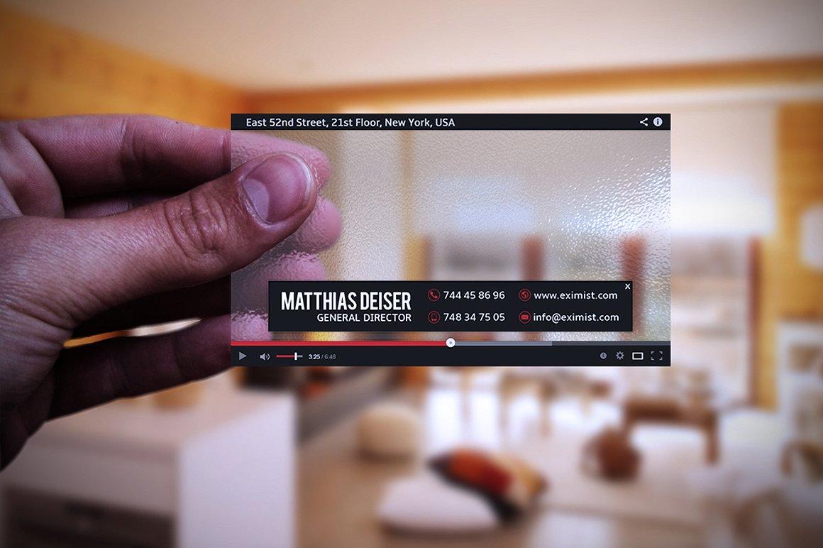 Transparent Youtube Business Card by Ma | Design Bundles